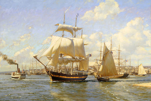 """The maiden voyage of the ""Joseph Starbuck"" from Nantucket,  November 15th, 1838."""