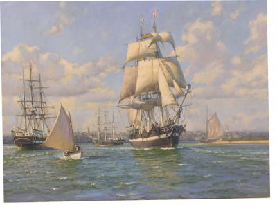 """The whaleship ""Essex"" leaves Nantucket, August 12th, 1819."""